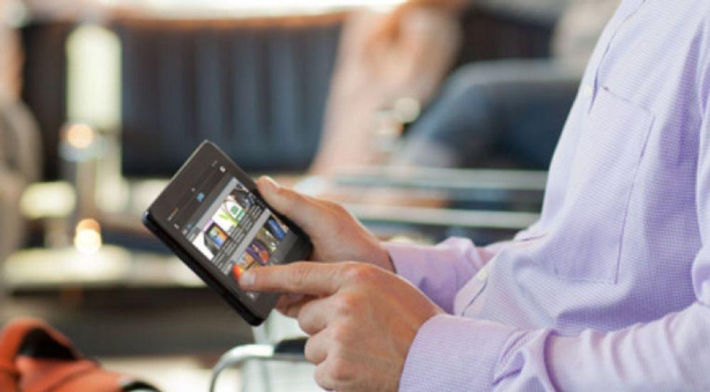 Økt bruk av digitalt innhold gjør det påkrevet å satse mer på digital markedsføring. Utviklingen tyder på at bedrifters markedsføringsavdelinger står for større IT-investeringer enn IT-avdelingene. Bildet viser bruk av nettbrettet Kindle Fire.