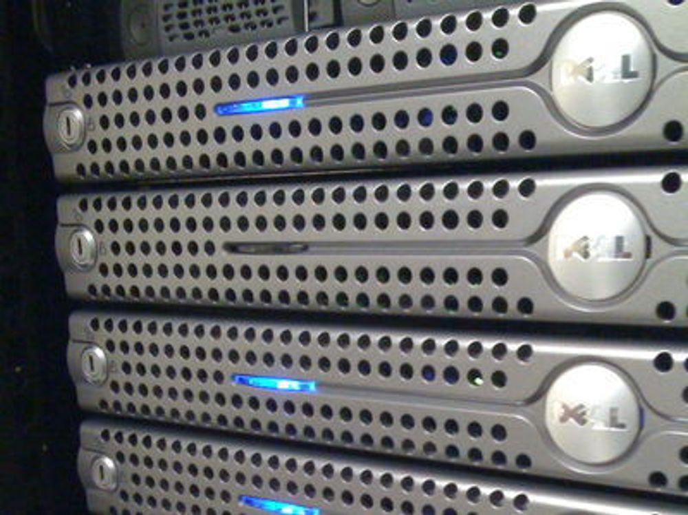Servermarkedet fortsetter å falle