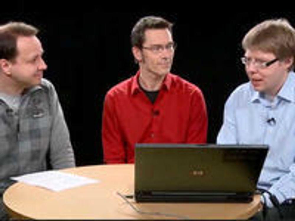 Harald Brombach, Petter Merok og Rune Zakariassen på DIGI-TV.