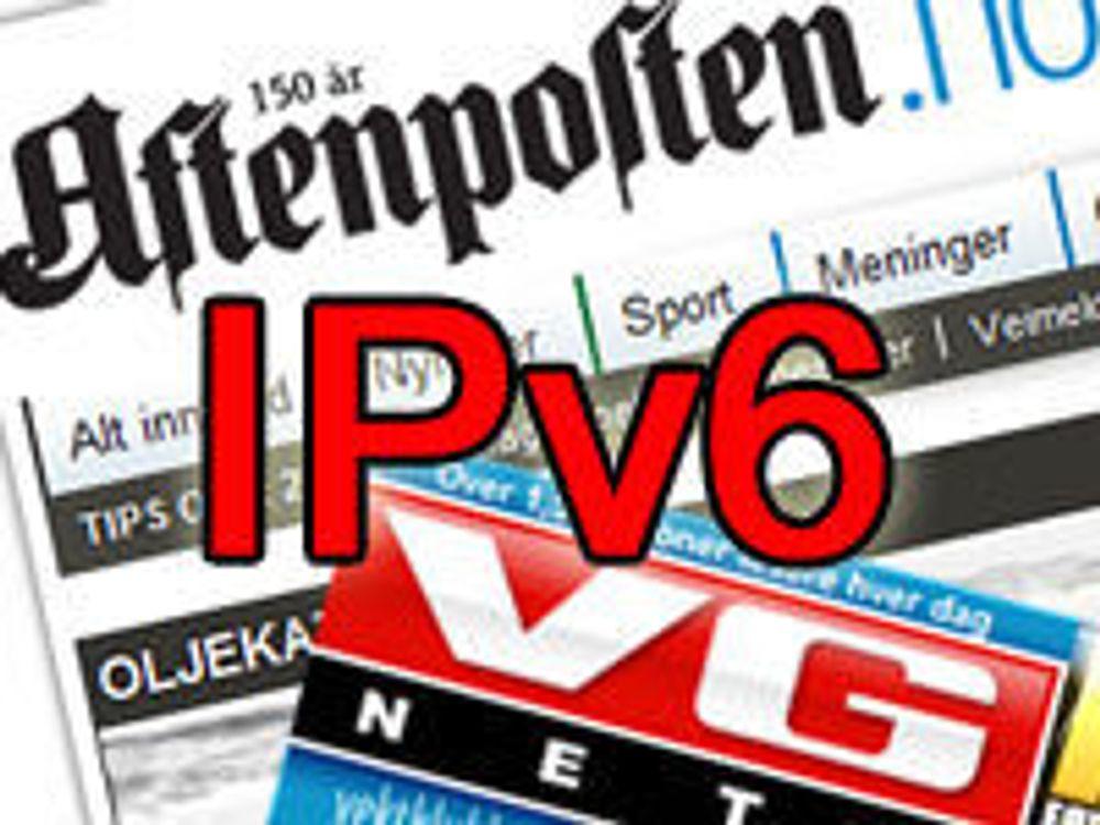 VG og A-pressen over på IPv6