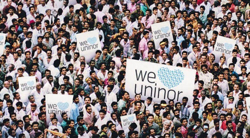 Detalj fra en plakat for Uninor.