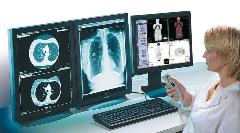GE Healtcare leverer medisinsk-teknisk utstyr til mange sykehus i Norge. På bildet vises selskapets Centricity RIS-PACS System for radiologi-avdelinger.