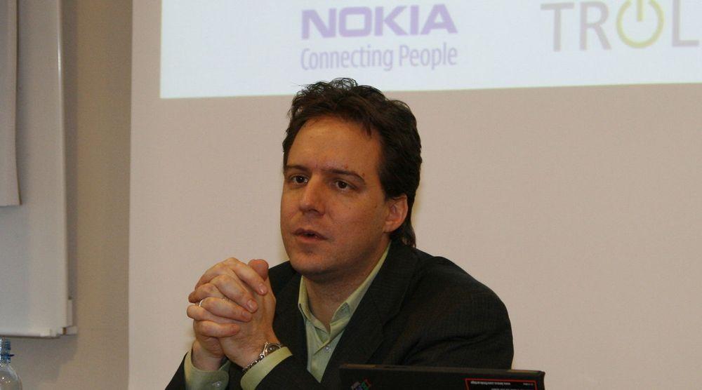 Lee Williams. Bildet er tatt i 2008 i forbindelse med Nokias oppkjøp av norske Trolltech.
