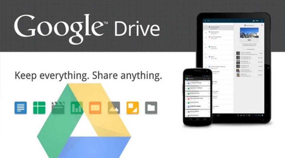 Google Drive rulles nå ut. Tjenesten erstatter Google Docs men fungerer også som en skybasert lagringstjeneste, med synkronisering mot blant annet PC og Mac.