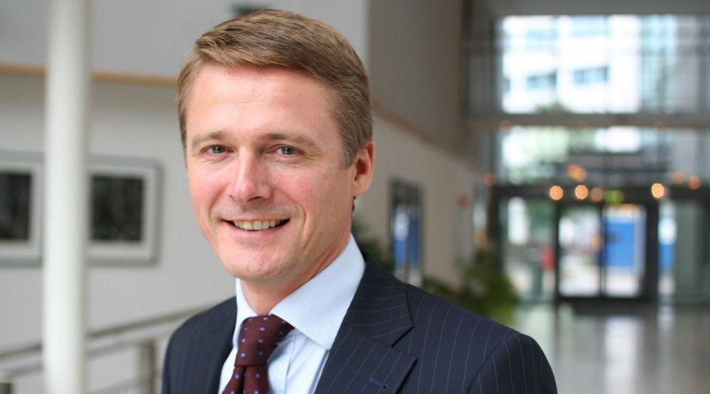 Michael Ramm Østgaard, sjef for SAPs virksomhet i Norge, kan vise til sterk vekst i første kvartal. Veksten var tosifret som følge av god etterspørsel etter forretningsapplikasjoner.