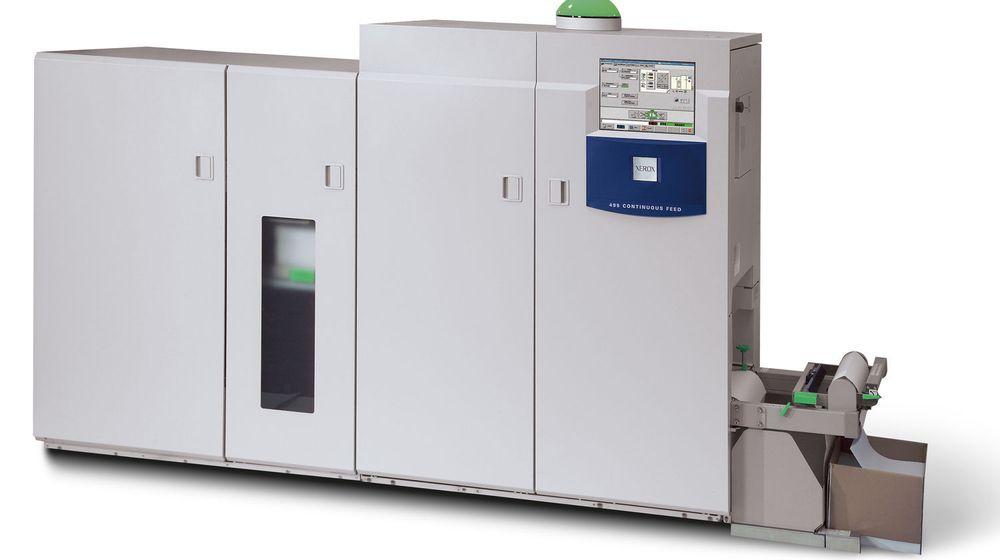 Avanserte maskiner som denne Xerox 495CF leveres helst i tilklnytning til avtaler om driftede tjenester.