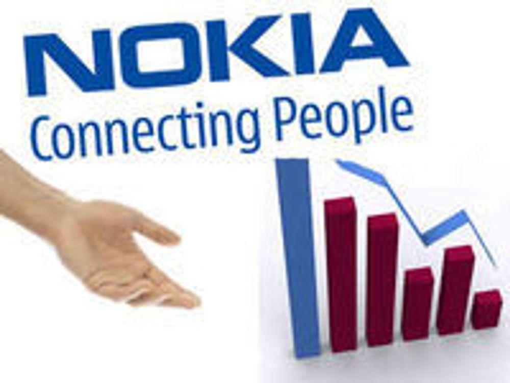 Nokia fra milliardglis til milliontap