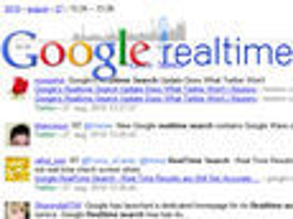 Slutt på sanntidssøk i Google