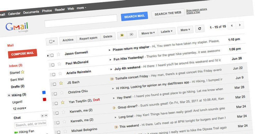 Gmail får nytt utseende