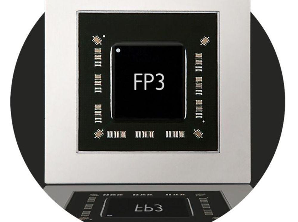 Den nye nettverksprosessoren FP3 fra Alcatel-Lucent.