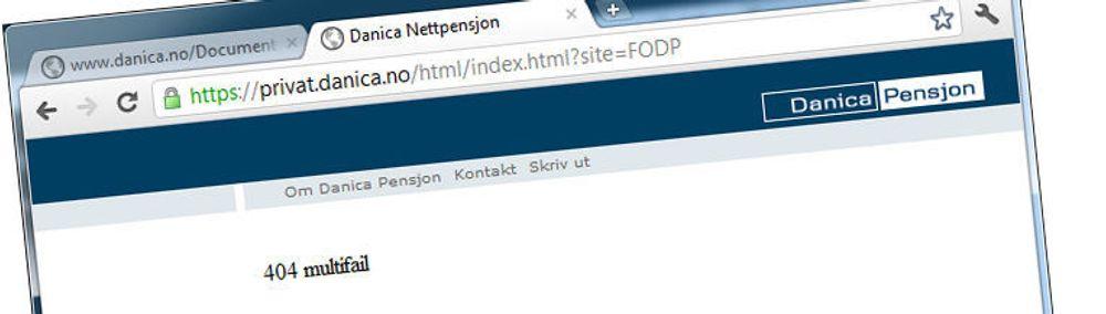 Multifail: Denne nettsiden fungerer ikke bare best med Internet Explorer. Den fungere bare med IE.