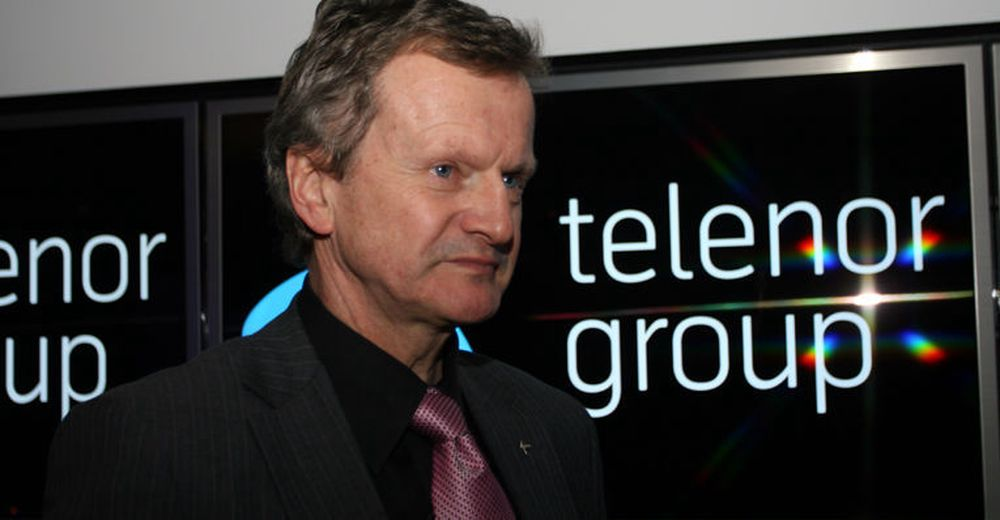 Konsernsjef Jon Fredrik Baksaas i Telenor