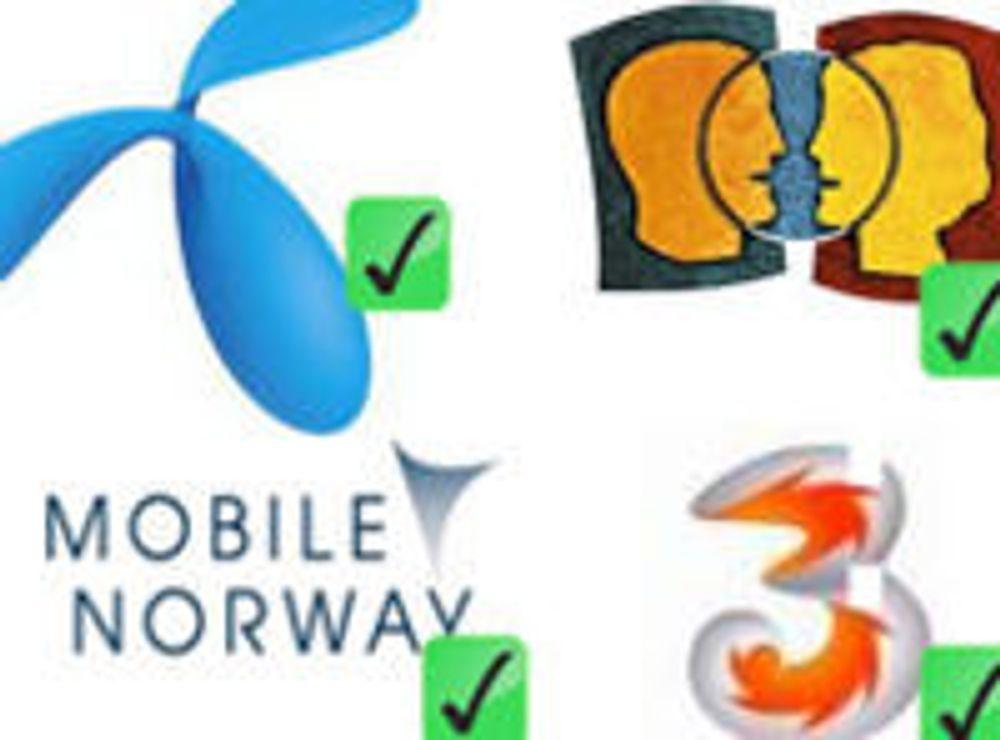 Norge får fire 3G-nett