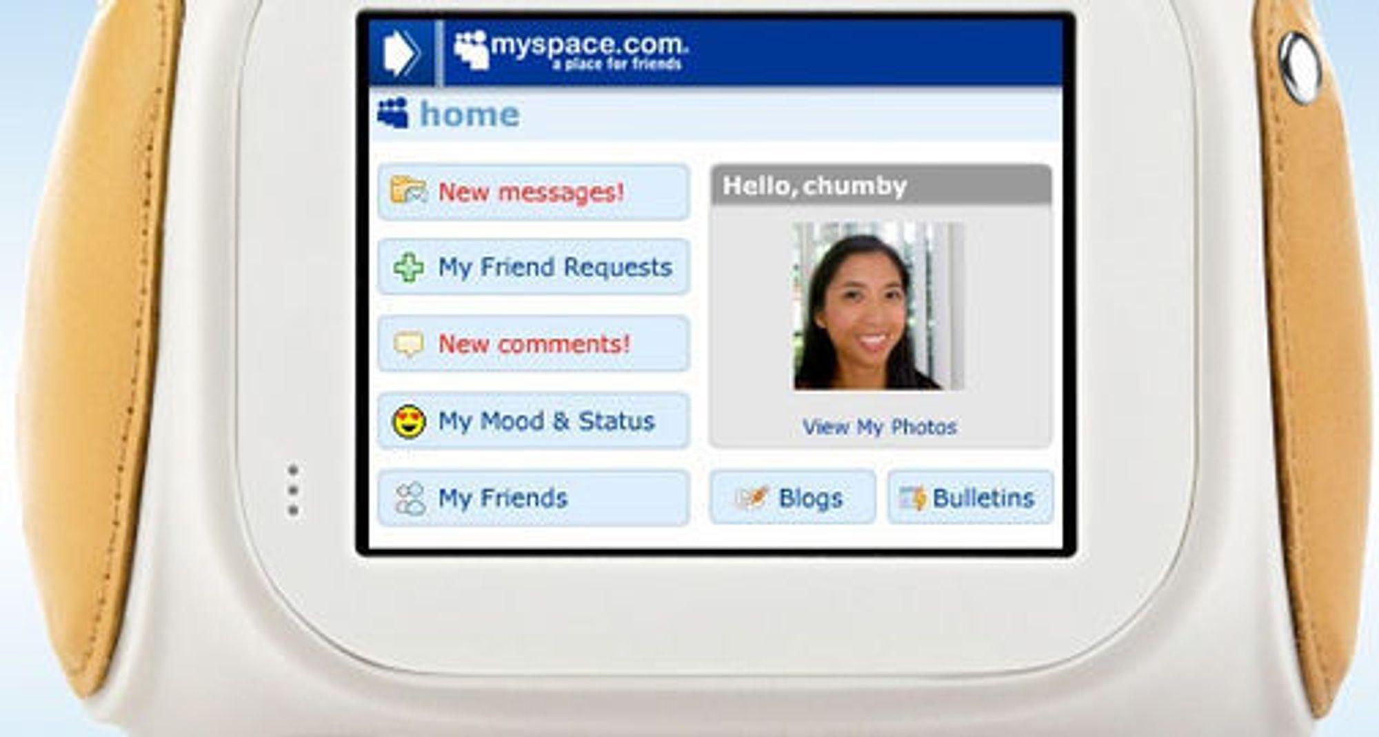 Chumby med MySpace-widget