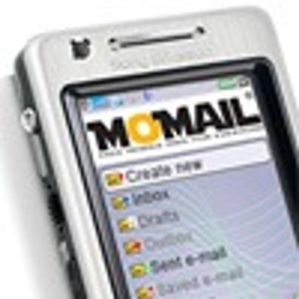 Deler ut gratis mobil epost med reklame