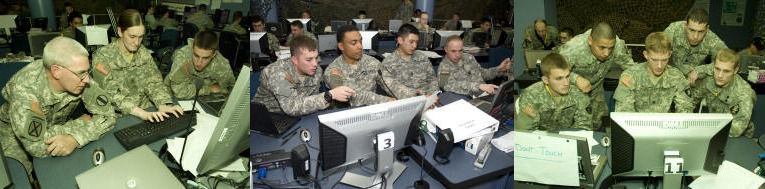 "Situasjonsbilder fra laget til West Point under årets ""Cyber Defense Exercise"". (foto: US Miliutary Academy)"