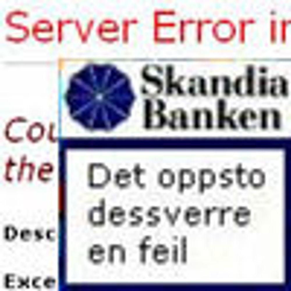Skandiabanken sliter med nettbanken