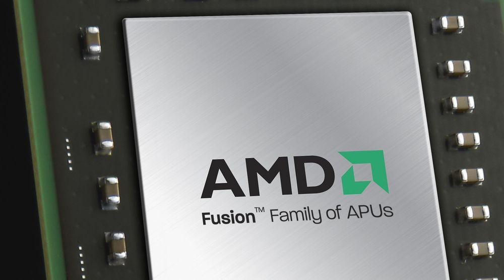 AMDs Fusion-brikker som inneholder både CPU og GPU.