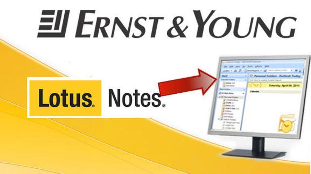 Ernst & Young vraker Lotus Notes