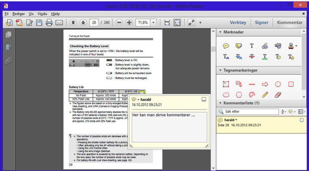 Adobe Reader XI har fått omfattende kommenteringsmuligheter.