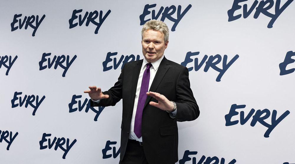 Konsernsjef Terje Mjøs ledet seremonien 17. mars 2012 da EDB Ergogroup offisielt skiftet navn til Evry.