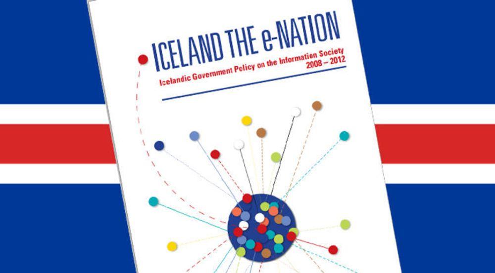 Også Island har ambisjoner innen e-forvaltning. Dokumentet er tilgjengelig fra nettstedet til statsministerens kontor.