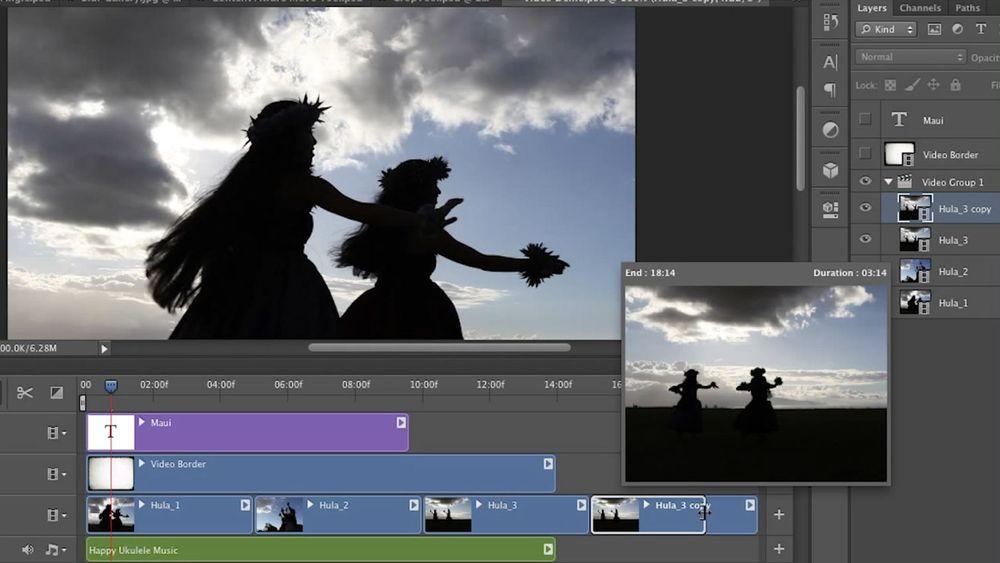 Videoredigering med tidslinje er blant nyhetene som kommer i Photoshop CS6.