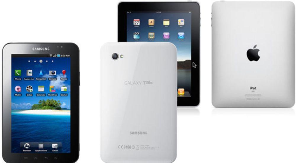 Apple mener Samsung Galaxy Tab er en kopi av deres iPad.