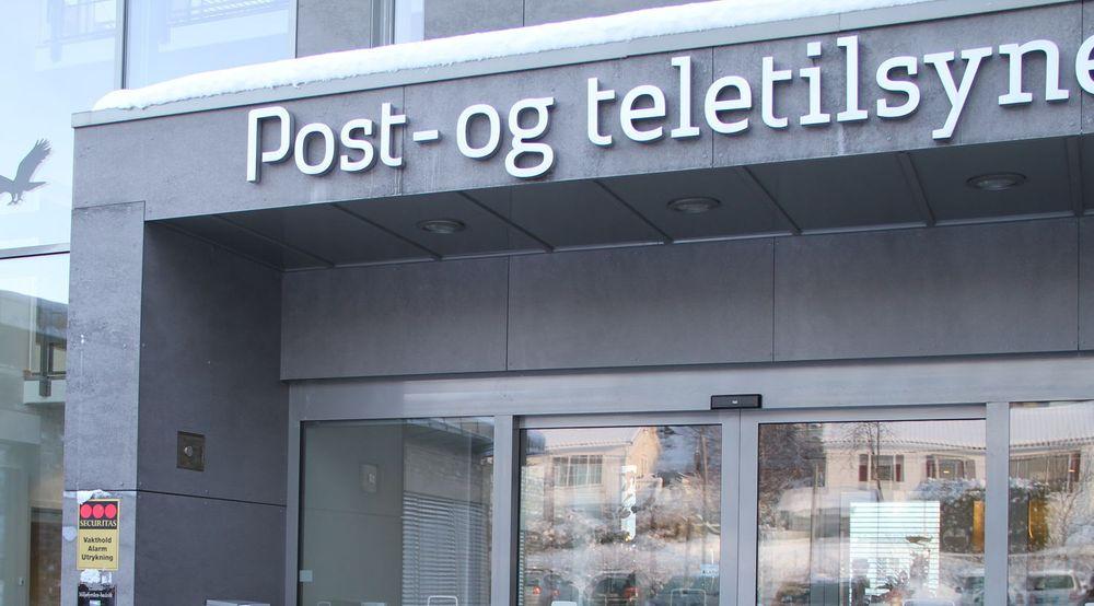 Post- og teletilsynet, her representert ved inngangspartiet ved kontoret i Lillesand i fjor vinter, vil ikke tillate Tele2 å finansiere et landsdekkende mobilnett ved bruk av økte termineringspriser.