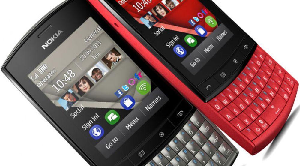 Nokia Asha, her i varianten 303, overrasker med en plass på Netcoms oversikt over Norges ti mest solgte smartmobiler i mai.