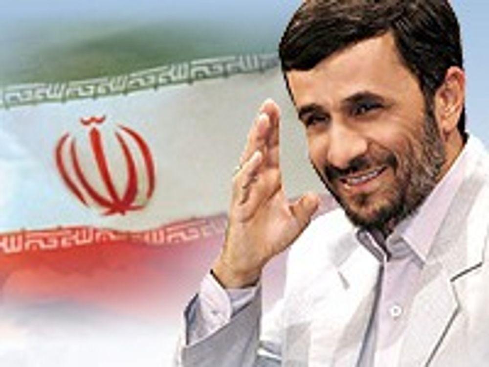 Bildet er hentet fra det offisielle nettstedet til Irans president. Den private bloggen er fortsatt utilgjengelig.