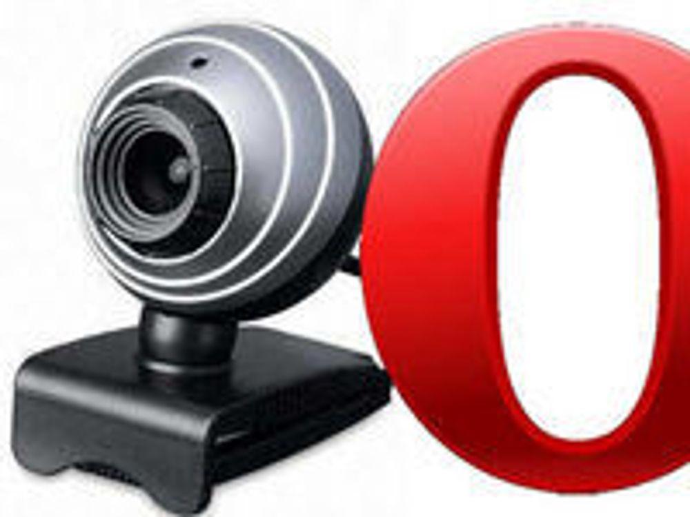 Opera kobles til webkameraet