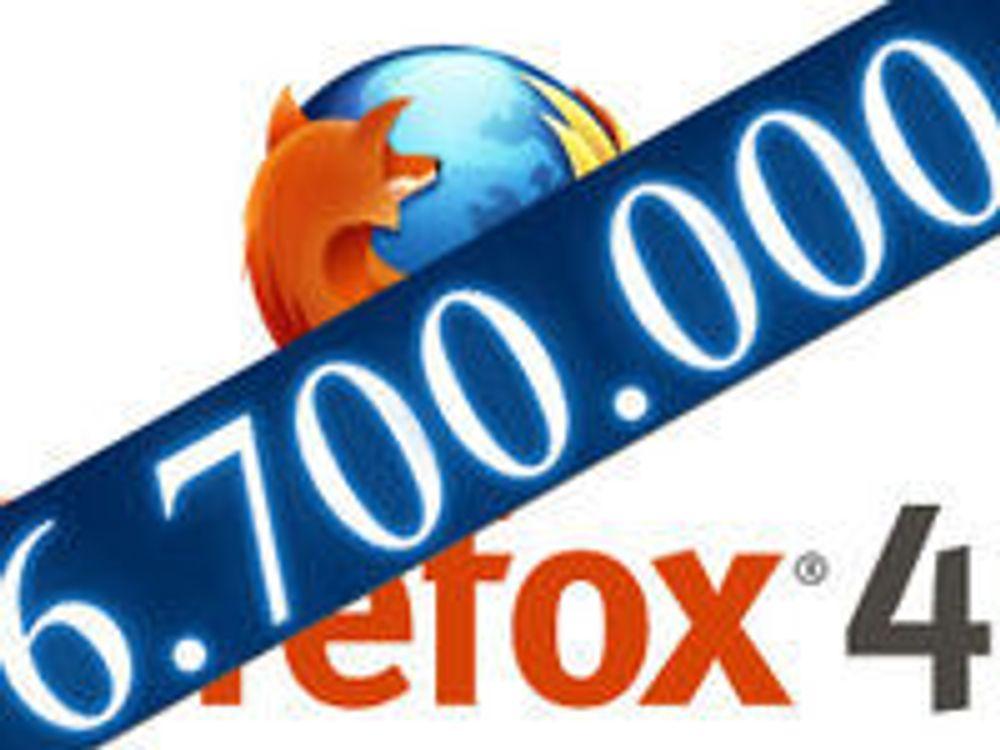 Massiv nedlasting av Firefox 4