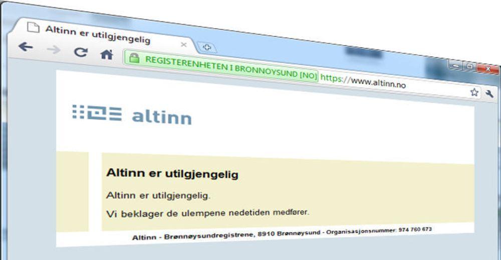Leter febrilsk etter feil i Altinn