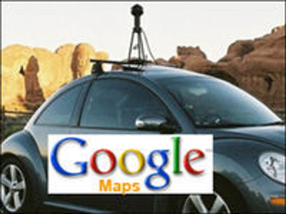 Disse dataene samler Google-bilene inn