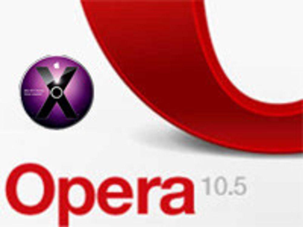 Opera 10.5 straks klar for Mac
