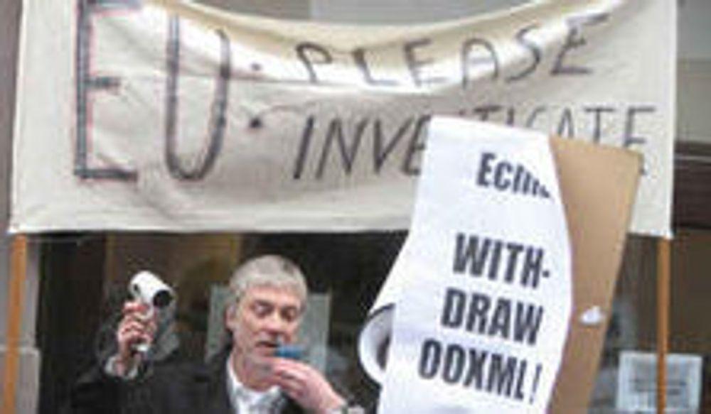 Mange demonstrerte mot OOXML