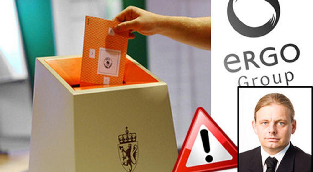 - Ikke programmeringsfeil i valgsystemet