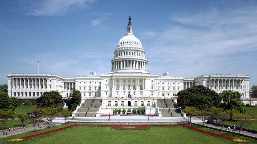Kongressbygningen i Washington DC, også kjent som Capitol Hill.
