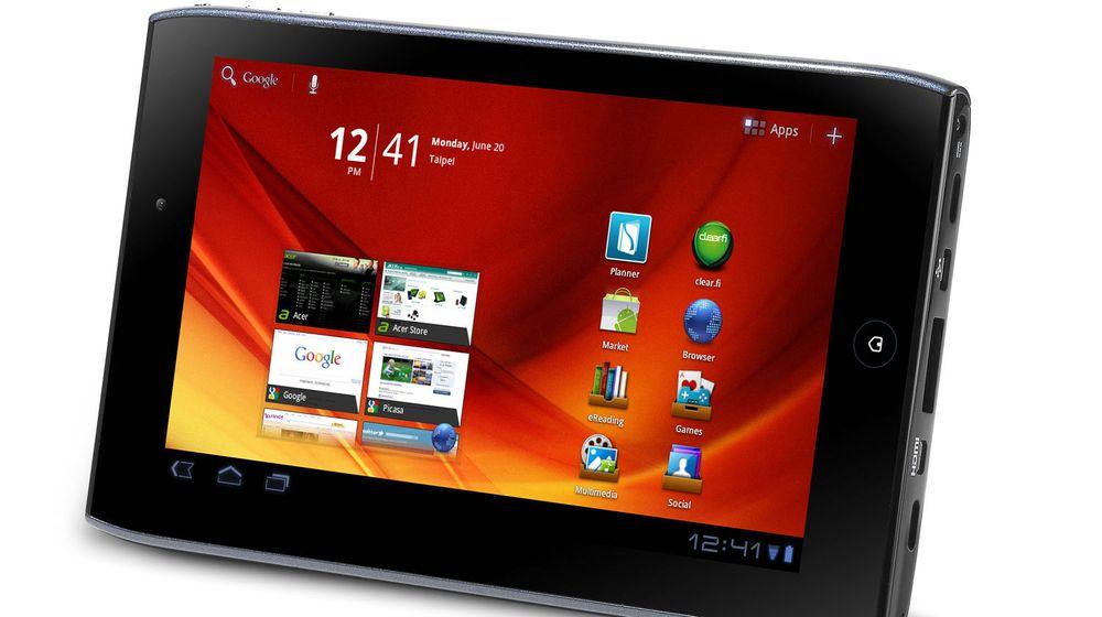 Acer Iconia Tab A100 er blant enhetene som trolig dekkes av Acers avtale med Microsoft.