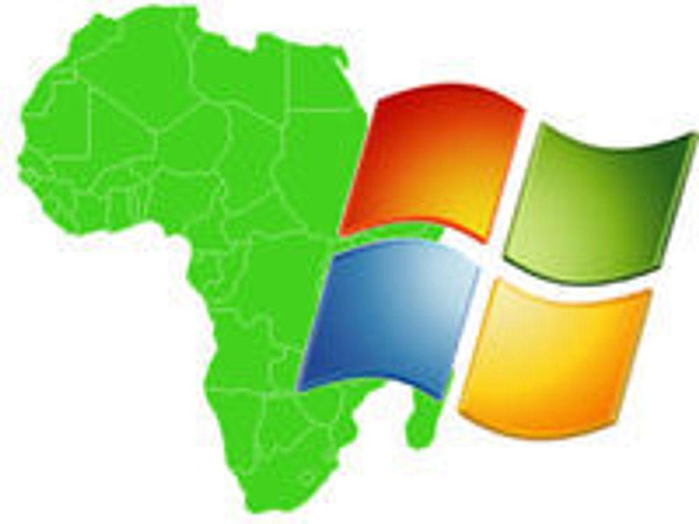 Vil male Afrika grønn med Windows