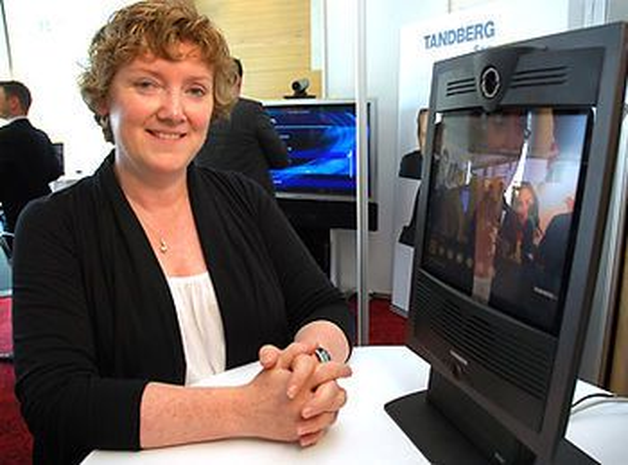 Diskusjonene varer lengre og deltakerne får med seg mer når de bruker telekonferanse, viser Bridget Kanes undersøkelse fra tre sykehus i Irland. Foto: Jan Fredrik Frantzen, NST.
