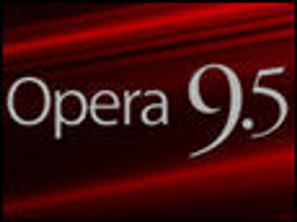 Opera 9.5 slo Firefox 3 på målstreken
