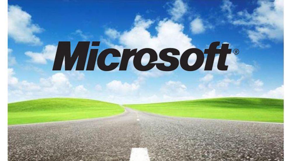 Microsoft brukte dette bildet to ganger i sin tallpresentasjon i går. Signalet er at skyer over horisonten er ingen faretegn for et selskap opptatt av å levere stadig flere tjenester etter en ny forretningsmodell.