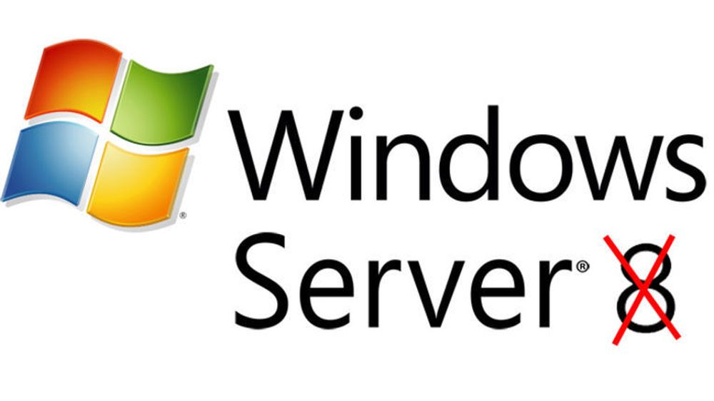 Windows Server 8 var bare et kodenavn på Windows Server 2012.