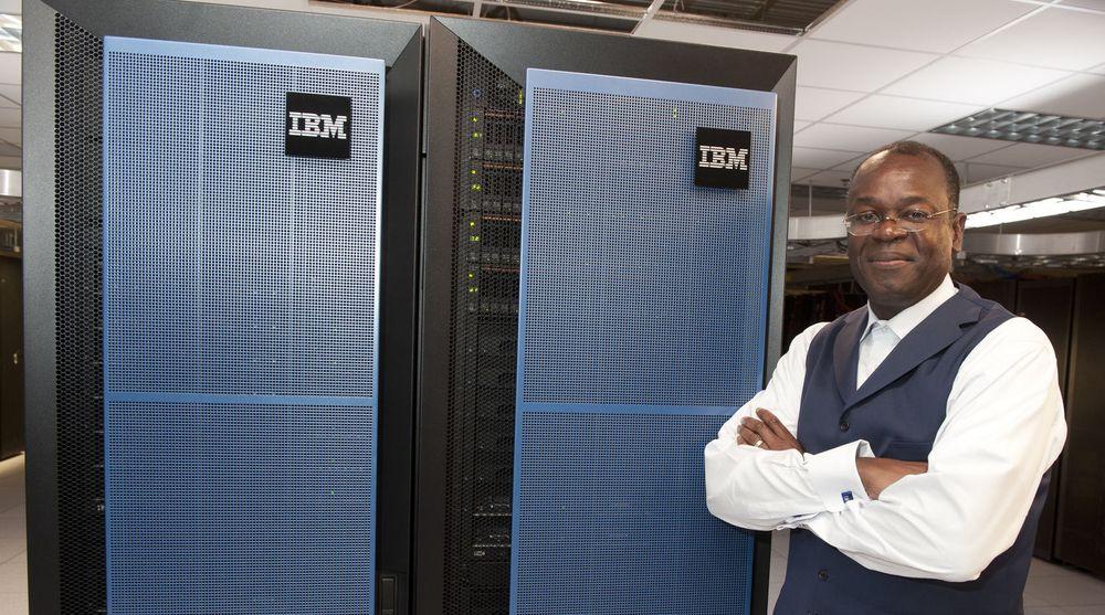 Rodney Adkins,direktør med ansvar for IBMs system og teknologidivisjon, står ved siden av selskapets store nye lansering: Pure Systems. IBM har brukt rundt 12 milliarder norske kroner på utviklingen av systemet.
