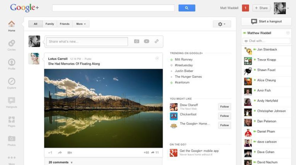 Mye har blitt flyttet på i den første store redesignen av Google+