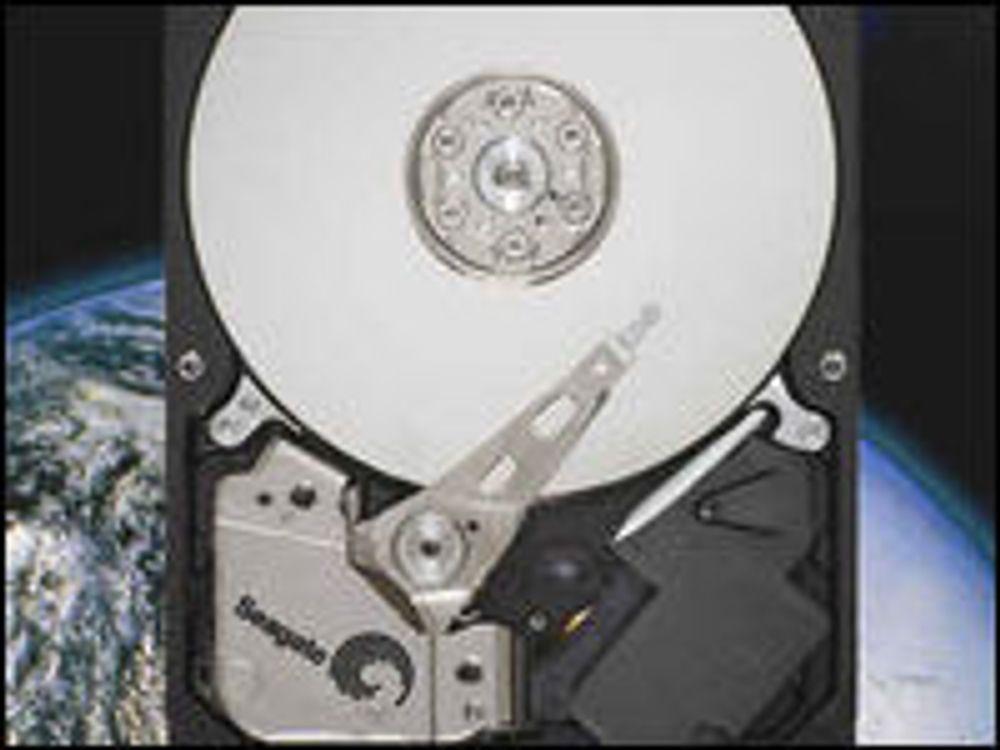 Rekordtett datalagring på nye harddisker