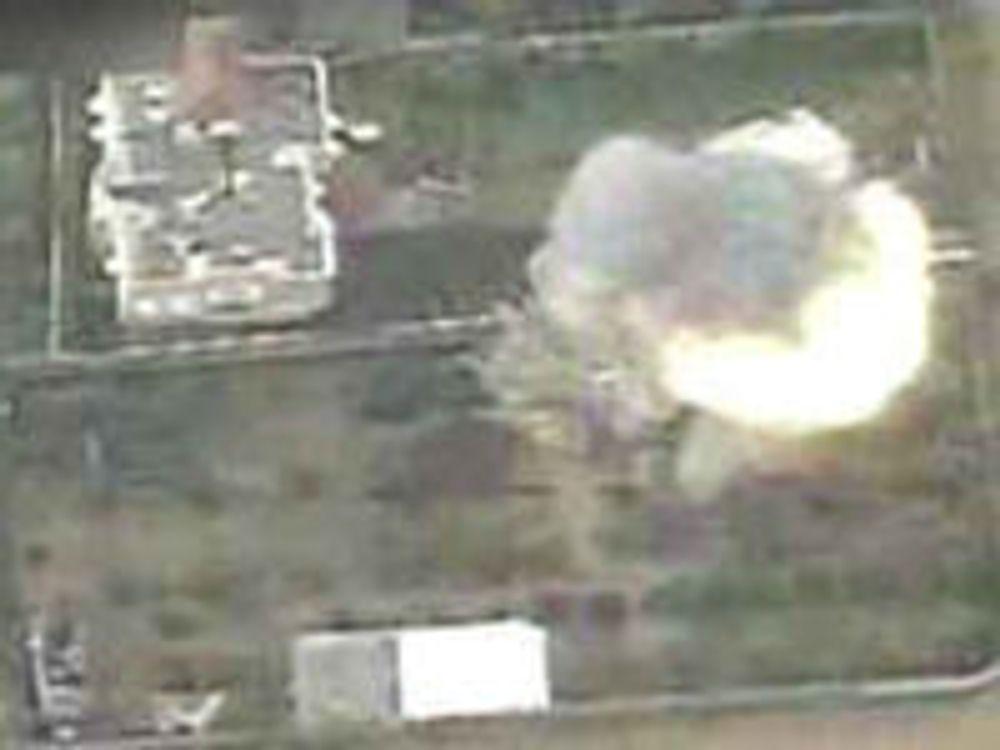 Gaza-bombing lagt ut på Youtube