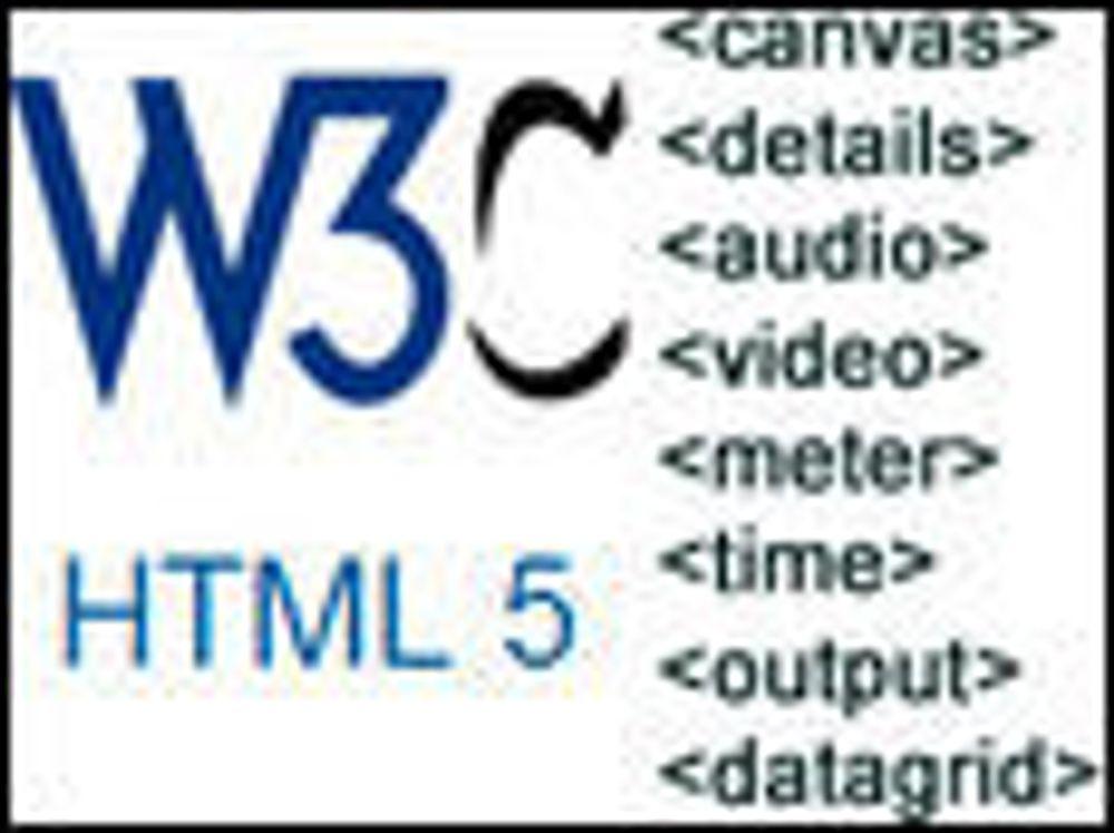 - HTML 5 blir først ferdig i 2022